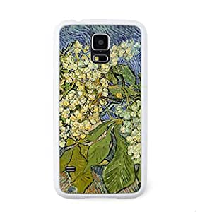 CaseCityLiu - Chestnut Blossoms Vincent Willem van Gogh Oil Painting Design White Bumper Plastic+TPU Case Cover for Samsung Galaxy S5