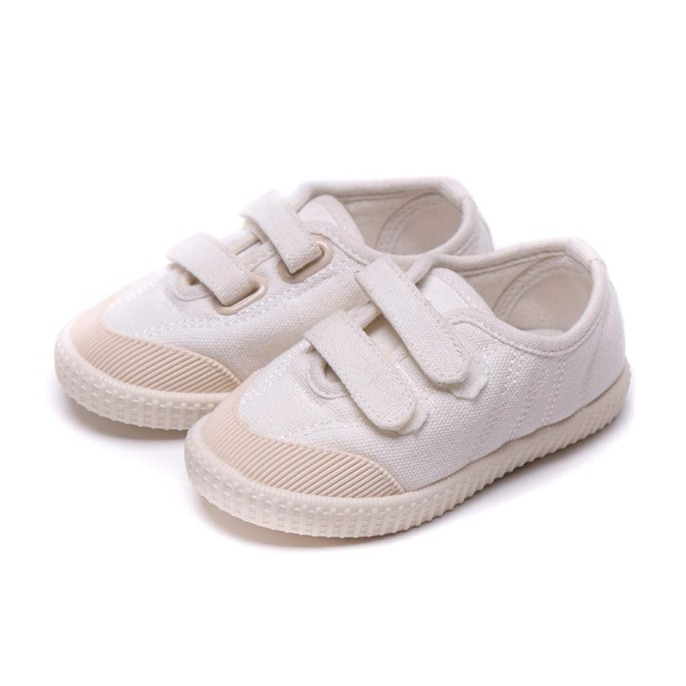 Kids Soft Sole Casual Shoes Comfortable Non-Slip Hook/&Loop Canvas Shoes