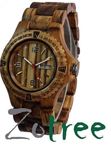 The ANTEX Series Diver watch, men and women, Sports watch, Wooden watch with wooded bracelet, ECO Friendly design, by ZoTree Designs ()