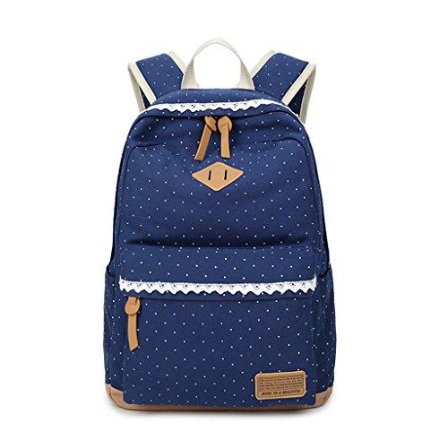 Approx 12 École Dos Toile Filles Mignon 54 Léger Bookbags 51X16 Toile 99X5 à pour Lamdoo Foncé Adolescents Green Bleu 33X14X42CM Sacs UI0qPwn6