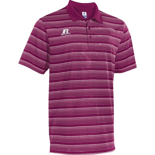Russell Athletic Mens Striped Maroon