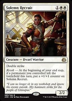Rare 022//184 Solemn Recruit - Aether Revolt