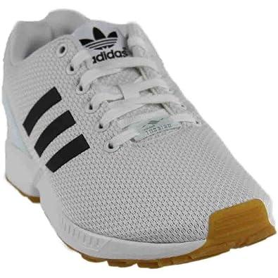 adidas Zx Flux Mens White/Black-gum3 10.5 D(M) US