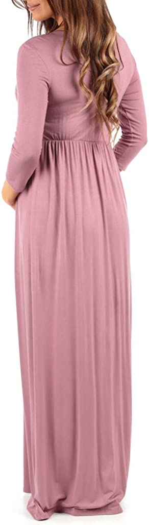 Wrapped Ruched Maternity Dress at  Women's Clothing store