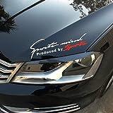 isee360 Racing Auto Hood Bumper Sides Windows Car Sticker Die Cut Water Resistance ,29X9Cm