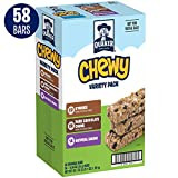 Quaker Chewy Granola Bars (S'mores bars-22 Count, Dark Chocolate Chunk bars-22 Count, Oatmeal Raisin-14 Count ), Back to School Variety Pack