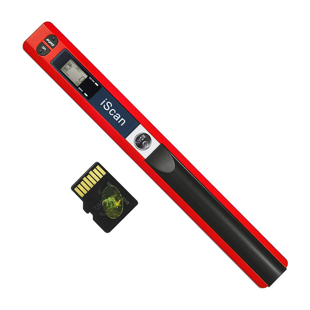 Portable Handheld Wand Wireless Scanner A4 Size 900DPI JPG/PDF Formate LCD Display with Protecting Bag and 8GB TF Card for Business Document Reciepts Books ...