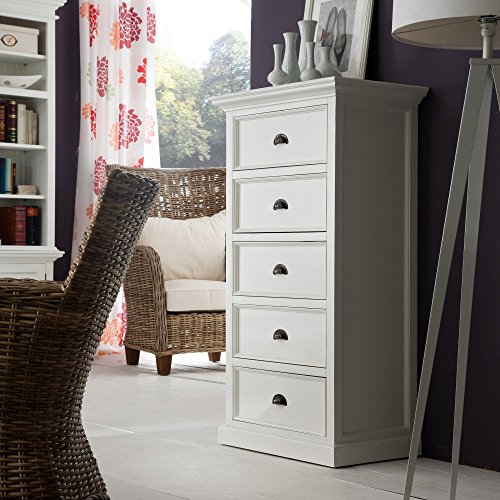 NovaSolo Halifax Chest of Drawers, Large, White by NovaSolo