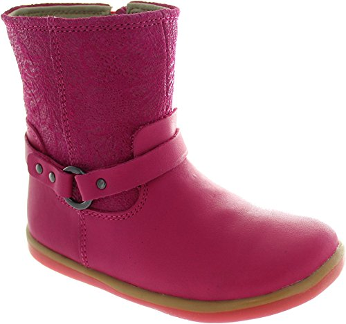 Bobux Walk Riemen Stiefel Leder Füßlinge Rosa