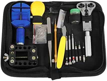 BTSKY™Professional 36 PCS Watch Link Opener Repair Remover Watch Repair Tool Kit Set + 108 PCS Watch Strap Spring Pins