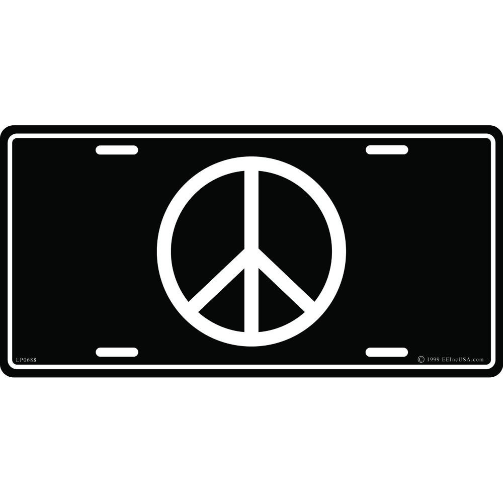 Peace Sign License Plate FindingKing