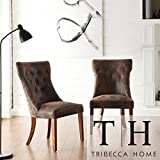 Metro Shop Tribecca Home Atelier Traditional French Burnished Brown Oak Dining Chair (Set of 2)