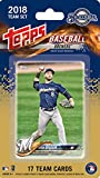 Milwaukee Brewers 2018 Topps Factory Sealed Special Edition 17 Card Team Set with Ryan Braun and Eric Thames Plus