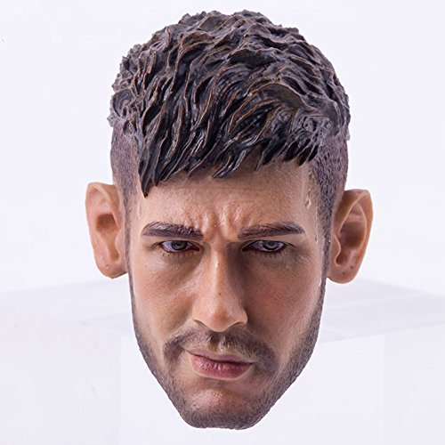 HiPlay 1/6 Scale Male Figure Head Sculpt, Handsome Men Tough Guy, Doll Head for 12