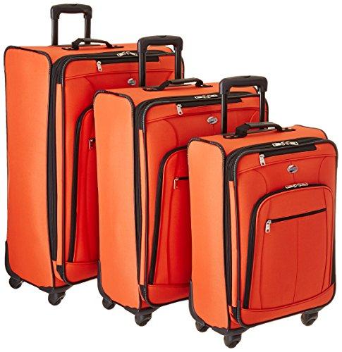 (American Tourister AT Pops Plus 3pc Nested Set 21 25/Spinner 29), Orange)