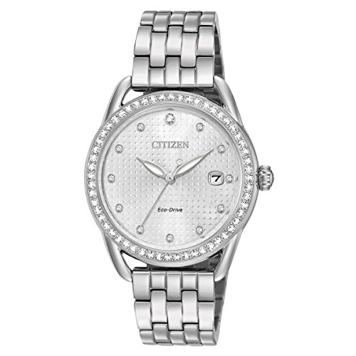 Citizen Watches Women's FE6110-55A Eco-Drive Silver One Size