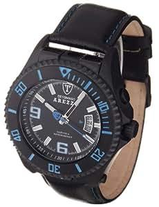 DeTomaso Arezzo Dt1004-C - Reloj de caballero de cuarzo, correa de piel color negro