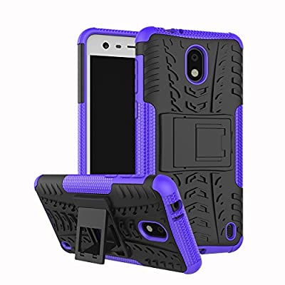 Nokia 2 Case,Mustaner Dual Layer Shock-Absorption Armor Cover Full-body Protective Case with Kickstand Combo PC+TPU Back for Nokia 2 from Mustaner