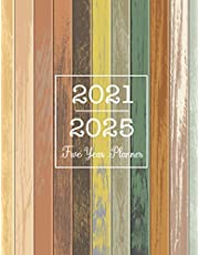5 Year Monthly Planner 2021-2025: Five Year Monthy Planner, 60 Months Calendar, 5 Year Appointment Book, Business Planners, Agenda Schedule Organizer Logbook and Journal | Vintage Wooden Cover