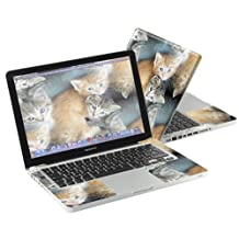 "Mightyskins Protective Skin Decal Cover for Apple MacBook Pro 13"" with 13.3 inch screen wrap sticker skins Kittens"