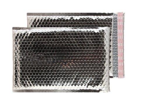 Purely Packaging - Buste imbottite con chiusura adesiva, formato C4+, 324 x 230 mm, confezione da 100 pezzi, colore: argento metallizzato Blake MBS324
