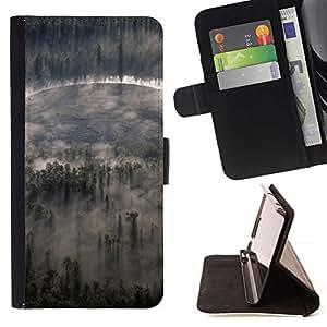 For Sony Xperia M4 Aqua Case , Nubes Forrest- la tarjeta de Crédito Slots PU Funda de cuero Monedero caso cubierta de piel