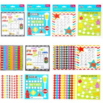 Flomo 1946542 Incentive Charts with 450 Stickers - Case of 48