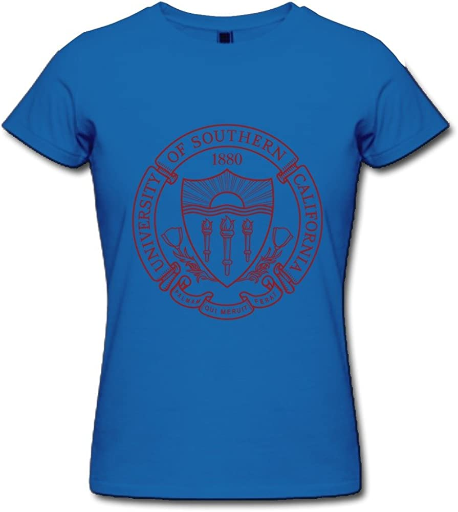 JRZJ Women's University Of Southern California Usc Logo T Shirts