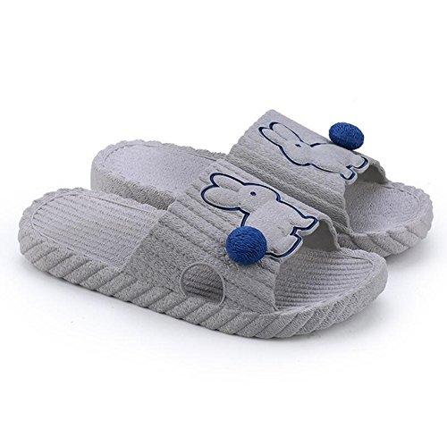 Slippers Sandals Soft Color Rabbit slip Bathroom Summer 38 Purple Creative 39 Purple Couple SUxian Pattern Slippers Couple Non Slippers soled Size twZF6vqxnf