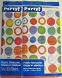 Plastic Table Covers, 54x108'' (2-pack) (54 in. x 108 in., Polka Dots)