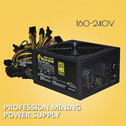 Sikye Steel Shell 2000W ATX Gold Mining Power Supply SATA IDE 8 GPU for ETH BTC Ethereum (160-240V) by Sikye (Image #4)