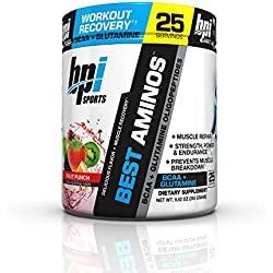 BPI Sports Best Aminos BCAA and Glutamine Supplement, Fruit Punch, 8.82 Ounce