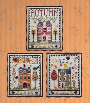 Autumn House Trio Cross Stitch Chart