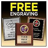 Crown Awards Gavel Plaques - 8 x 10 Wood Gavel