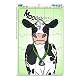 dishwasher magnet farm - Graphics and More Cow Black and White Cattle Milk Farm Moo Mag-Neato's Novelty Gift Locker Refrigerator Vinyl Puzzle Magnet Set