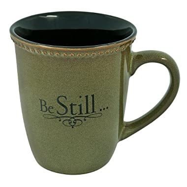 Sage Green  Be Still  Verse Mug