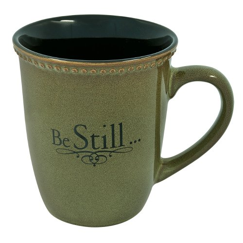 "Sage Green""Be Still"" Verse Mug"