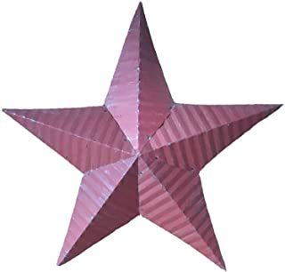 """product image for 18"""" Tin Rustic Barn Star Garden Decor - Red"""