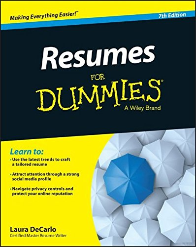 Resumes For Dummies Paperback August 3 2015