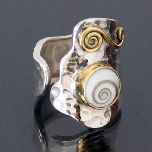 Anello d'argento - anello tribale - anello etnico - anello indiano - anello di dichiarazione - anello boemo - anello unisex - gioielli in argento - gioielli tribali - gioielli etnici