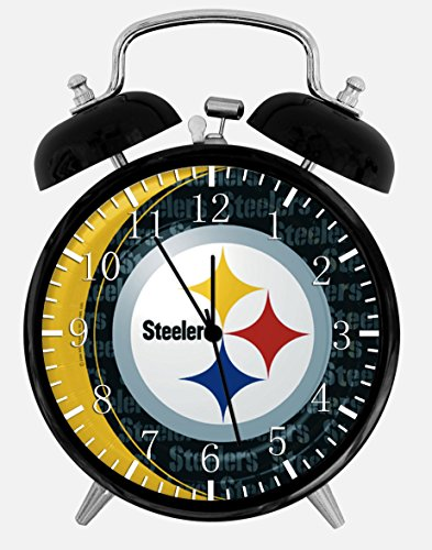 "Steelers Alarm Desk Clock 3.75"" Room Decor X54 Will Be a Nice Gift from SteelerMania"