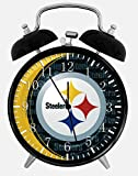 Steelers Alarm Desk Clock 3.75'' Room Decor X54 Will Be a Nice Gift