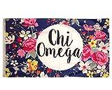 chi omega flag - Chi Omega Floral Pattern Letter Sorority Flag Greek Letter Use as a Banner Large 3 x 5 Feet chi o