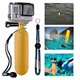 XCSOURCE® Monopod Diving Floaty Floating Hand Grip Handle + Screw + Wrist Strap Accessory Float For Gopro Hero 2 3 3+ Yellow OS97