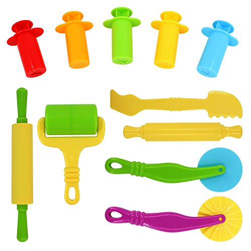 sysrion-smart-air-dry-clay-dough-tools-kit-11-piece-assortment-ages-3-up