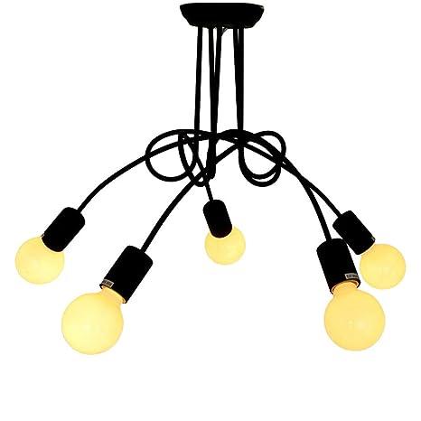 Lámpara Un De Techo Forma Atar Nudo Metal Niuyao Iluminación Ciling LUzMVSqpG