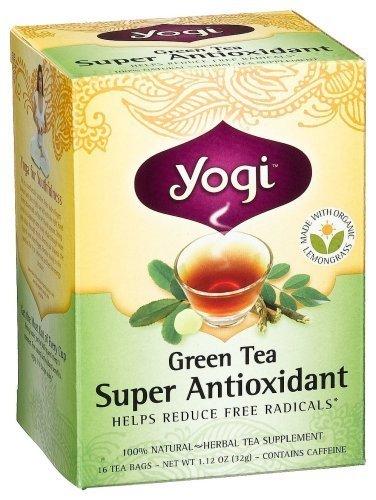 Yogi Herbal Tea, Green Tea Super Antioxidant, 16 tea bags (Pack of 3)