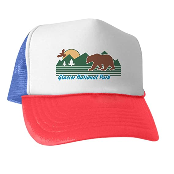 2a3326d0d CafePress - Glacier National Park - Trucker Hat, Classic Baseball Hat,  Unique Trucker Cap