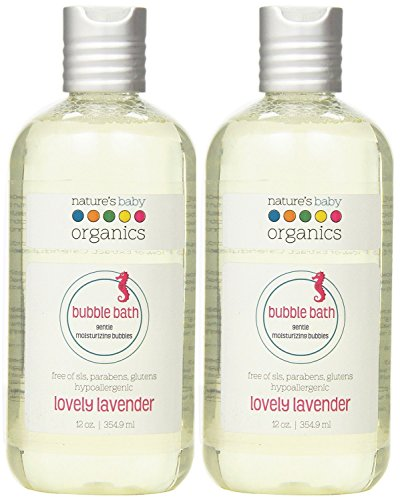 Nature's Baby Organics Moisturizing Bubble Bath, Lovely Lavender, 12 oz. (Pack of 2) by Nature's Baby Organics