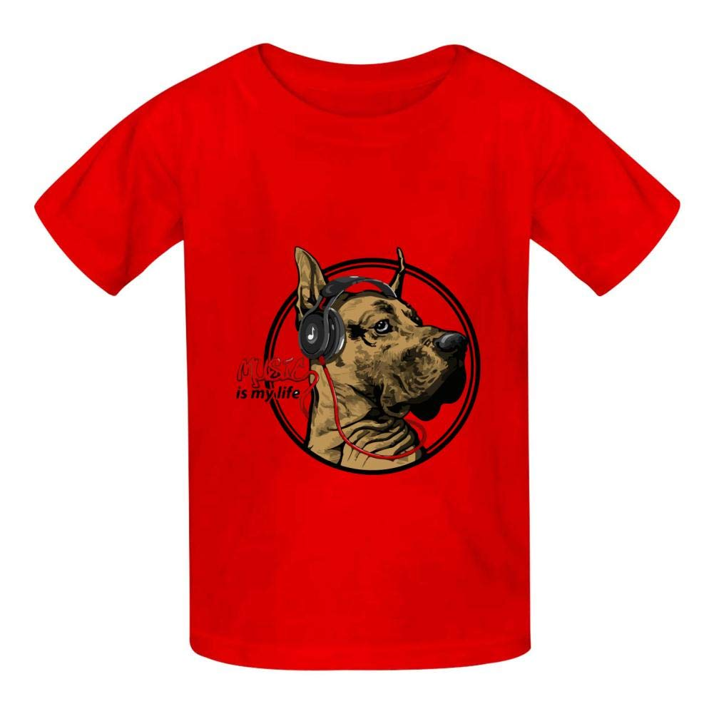 YYIL Dog2 Childrens Comfortable and Lovely T Shirt Suitable for Both Boys and Girls